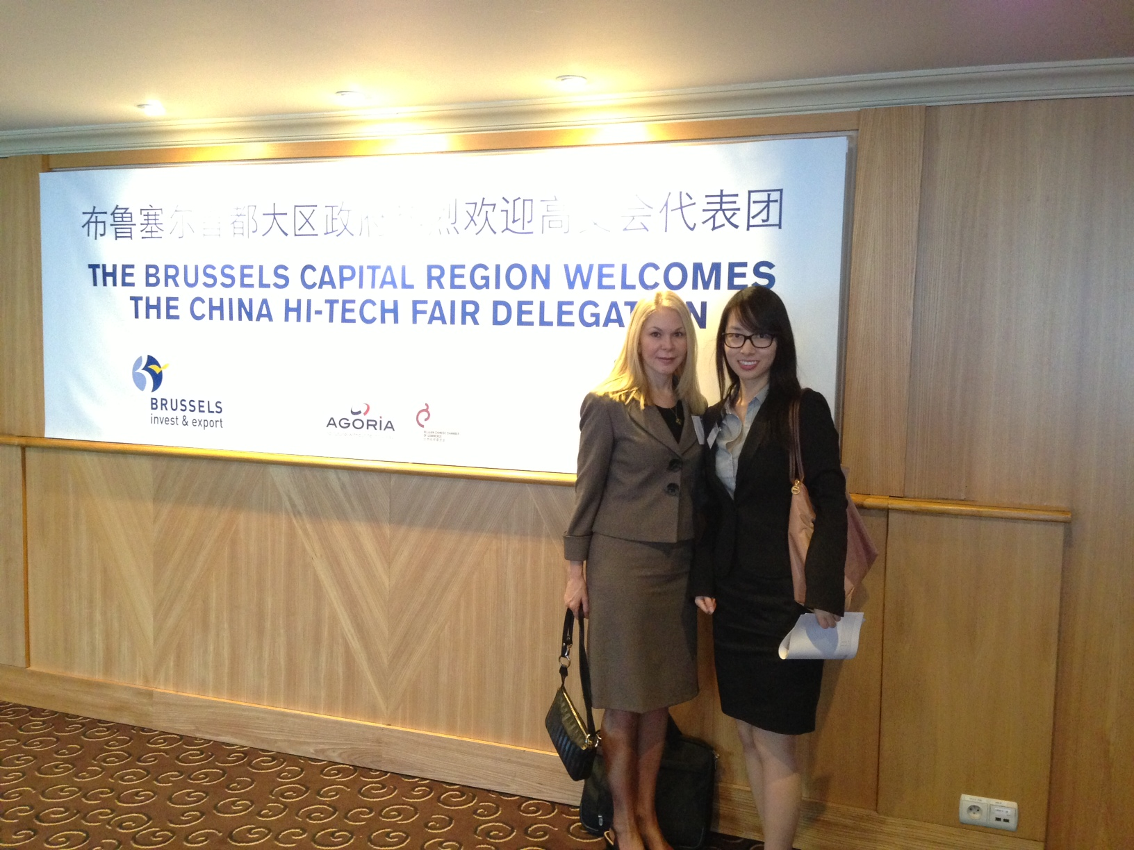 Dr. Wiederhold and Ms Kao at China Hi-Tech Fair 2013