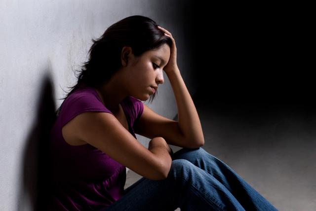 stressed teen